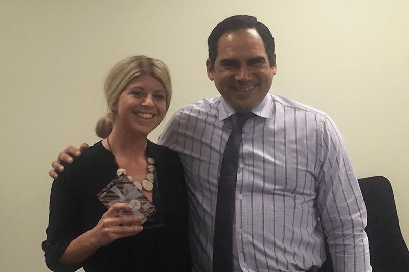 Caitlin Berke from Eastridge Wins Rising Star Award