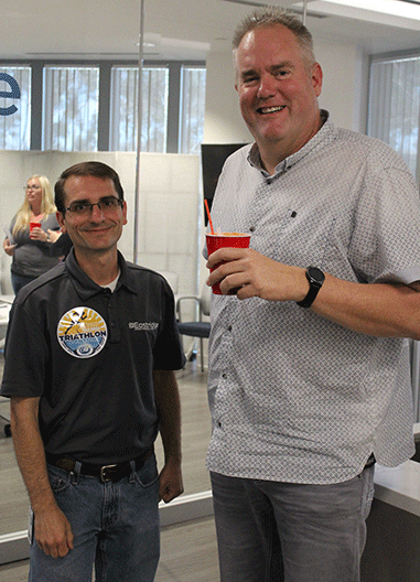 Eastridge Employees Enjoying Root Beer Float