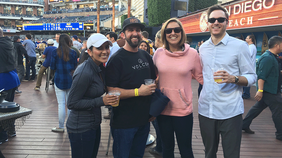 Eastridge Team At Padres Game