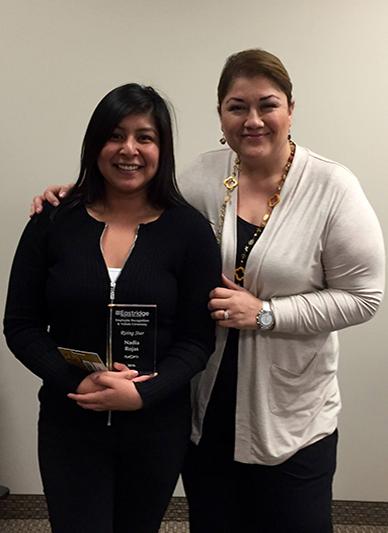 Nadia Rojas from Eastridge wins Rising Star Award