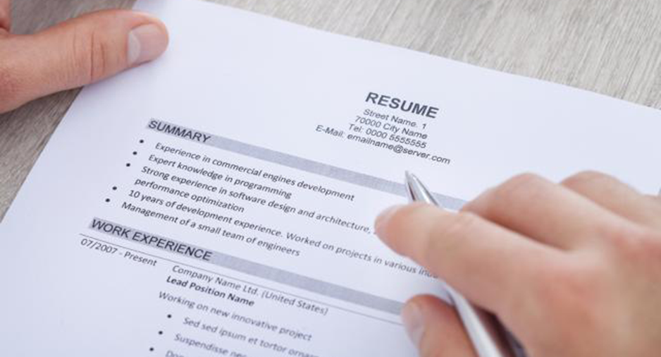 resume to apply to jobs