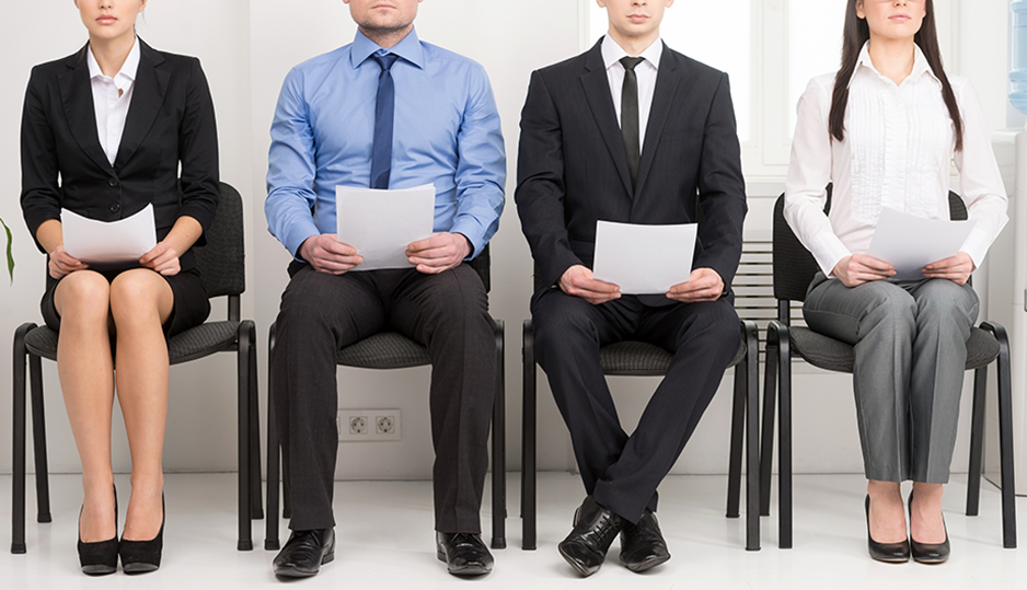 applicants in group interview
