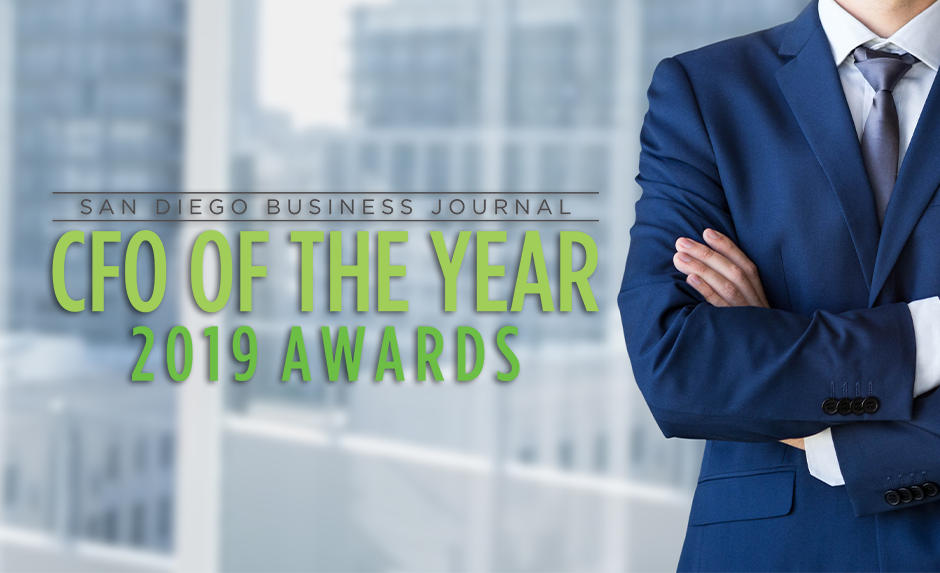 San Diego Business Journal -CFO of the year 2019 awards: Brandin Stanford recognized as finalist
