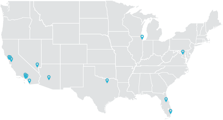 Convention Staffing Nationwide Map