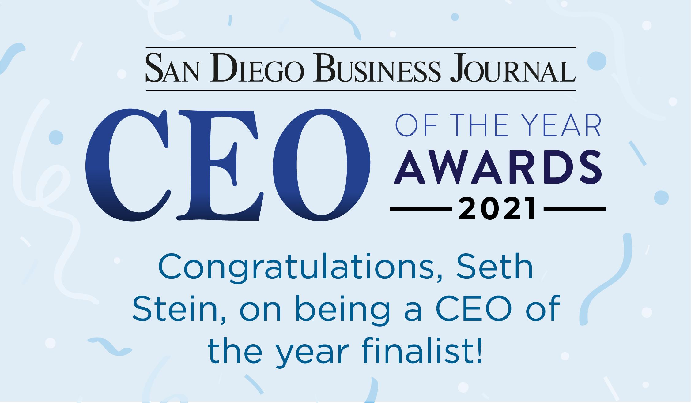 The San Diego Business Journal 2021 CEO of the Year Awards